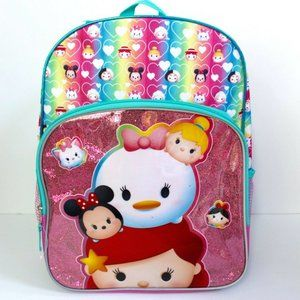 "Disney tsum tsum Shimmer Large School Backpack 16"""